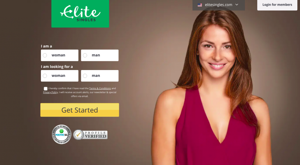 elitesingles main page