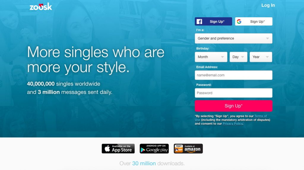 Disappeared zoosk profile Step